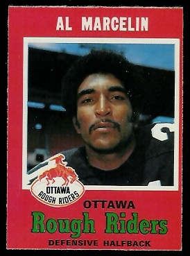 Al Marcelin 1971 O-Pee-Chee CFL football card
