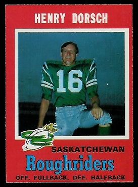 Henry Dorsch 1971 O-Pee-Chee CFL football card
