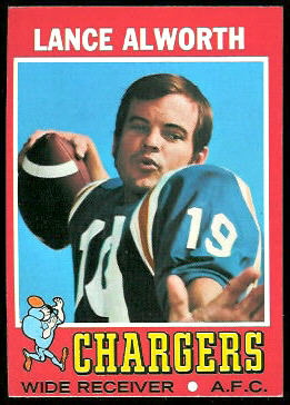 Lance Alworth 1971 Topps football card