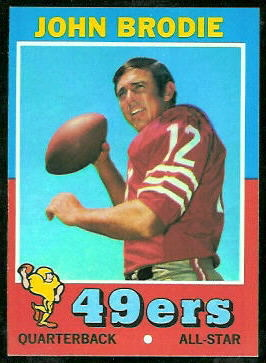 John Brodie 1971 Topps football card