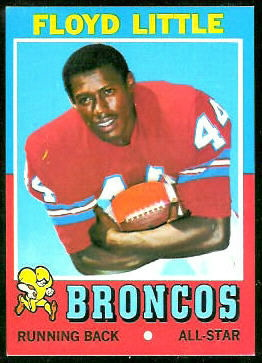 Floyd Little 1971 Topps football card