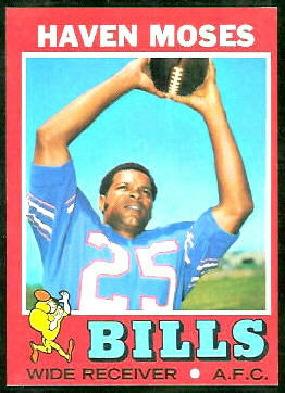 Haven Moses 1971 Topps football card