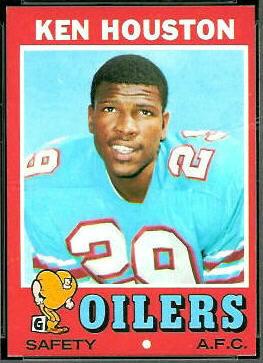 Ken Houston 1971 Topps football card
