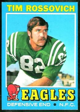Tim Rossovich 1971 Topps football card