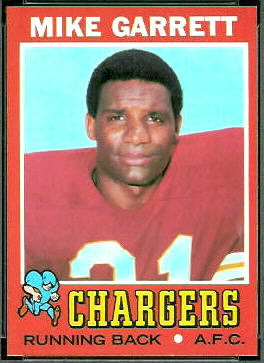 Mike Garrett 1971 Topps football card