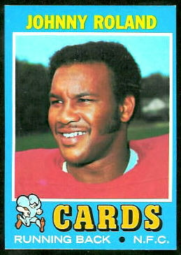Johnny Roland 1971 Topps football card