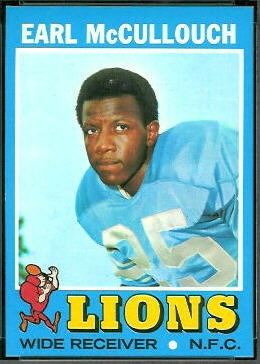 Earl McCullouch 1971 Topps football card
