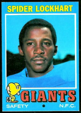 Spider Lockhart 1971 Topps football card