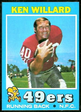 Ken Willard 1971 Topps football card