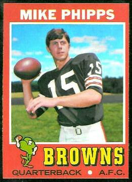 Mike Phipps 1971 Topps football card