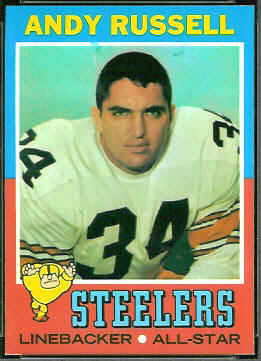 Andy Russell 1971 Topps football card