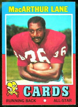 MacArthur Lane 1971 Topps football card