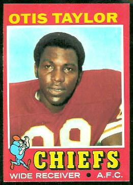 Otis Taylor 1971 Topps football card