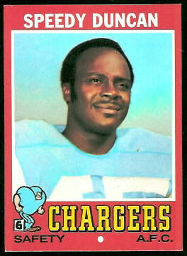 Speedy Duncan 1971 Topps football card