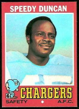 Speedy Duncan 1971 Topps football card