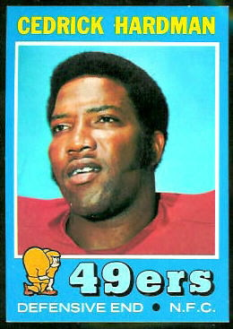 Cedrick Hardman 1971 Topps football card
