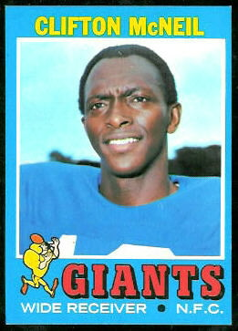 Clifton McNeil 1971 Topps football card