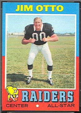 Jim Otto 1971 Topps football card