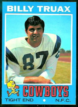 Billy Truax 1971 Topps football card