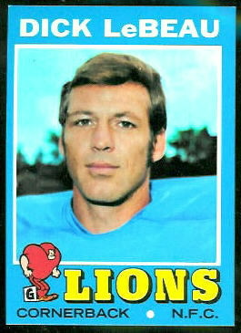 Dick LeBeau 1971 Topps football card