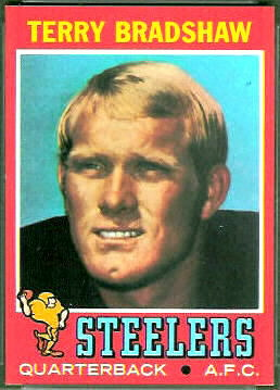 Terry Bradshaw 1971 Topps football card
