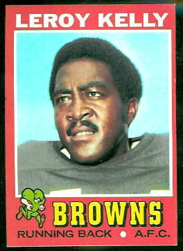 Leroy Kelly 1971 Topps football card
