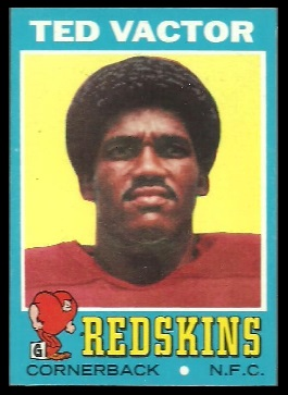 Ted Vactor 1971 Topps football card