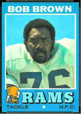 Bob Brown 1971 Topps football card