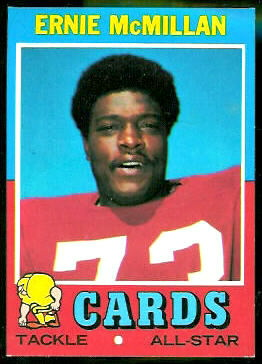 Ernie McMillan 1971 Topps football card