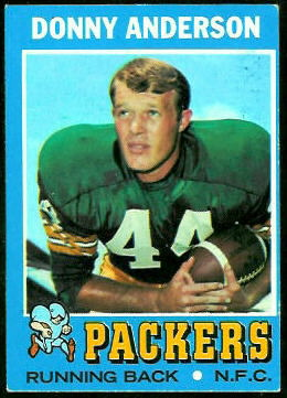 Donny Anderson 1971 Topps football card