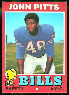 John Pitts 1971 Topps football card