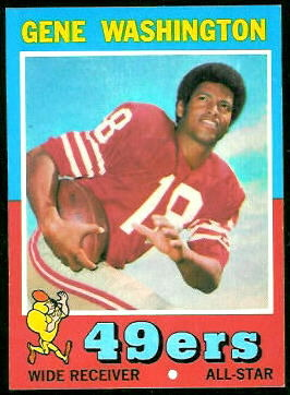 Gene Washington 1971 Topps football card