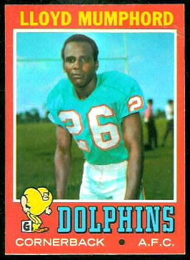 Lloyd Mumphord 1971 Topps football card