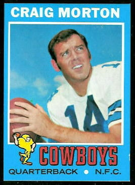 Craig Morton 1971 Topps football card