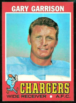 Gary Garrison 1971 Topps football card