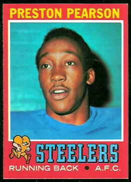 Preston Pearson 1971 Topps football card