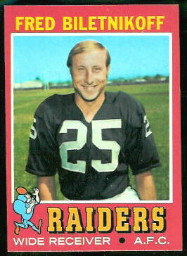 Fred Biletnikoff 1971 Topps football card