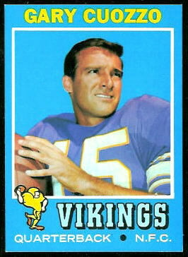 Gary Cuozzo 1971 Topps football card