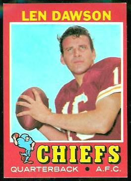 Len Dawson 1971 Topps football card