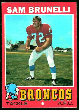 Sam Brunelli 1971 Topps football card