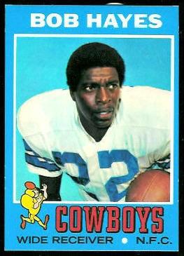 Bob Hayes 1971 Topps football card