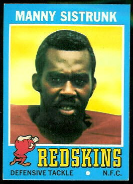 Manny Sistrunk 1971 Topps football card