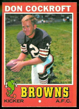 Don Cockroft 1971 Topps football card