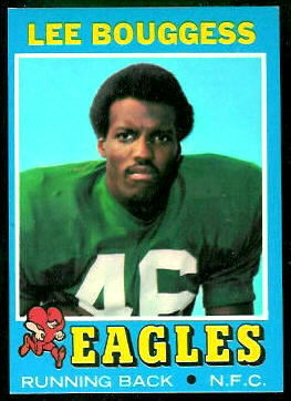 Lee Bouggess 1971 Topps football card