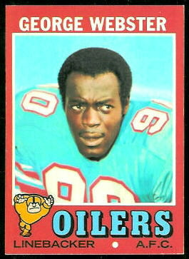 George Webster 1971 Topps football card