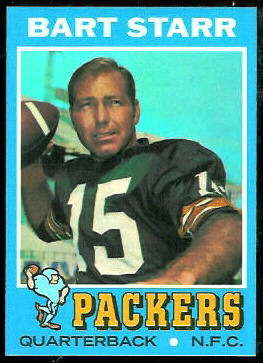 Bart Starr 1971 Topps football card