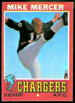 Mike Mercer 1971 Topps football card