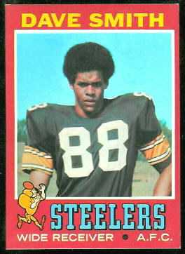 Dave Smith 1971 Topps football card
