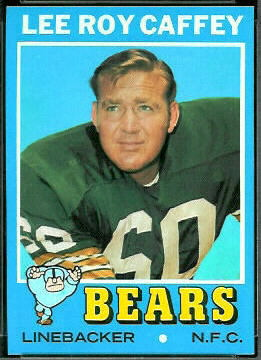 Lee Roy Caffey 1971 Topps football card
