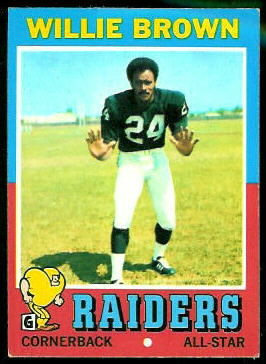 Willie Brown 1971 Topps football card